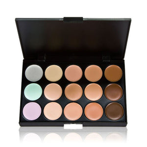 15 Color Make-Up Palette with 7 Powder Brush - J20Style - 3