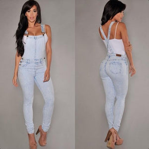 Denim Casual Sleeveless Romper - J20Style