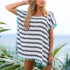Casual Boho Loose Striped Blouse - J20Style - 1