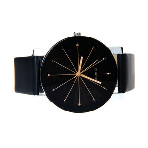 Leather Round Dial Wrist Watch - J20Style - 3
