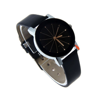Leather Round Dial Wrist Watch - J20Style - 2