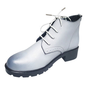 Woman Lace-Up Platform Oxford Shoes