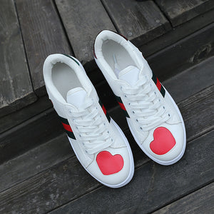 Tennis Flat Platform Breathable Heart-shaped Shoes