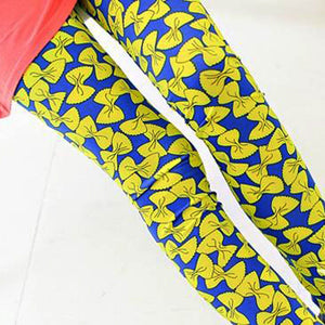 Bow Knot Printed Skinny Trouser - J20Style - 1