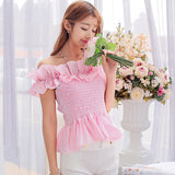 Korean Summer Ruffle Crop Top - J20Style - 4