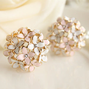 Four Leaf Flower Stud Earrings - J20Style - 1