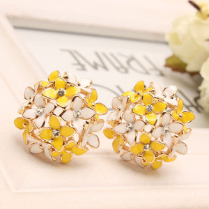 Four Leaf Flower Stud Earrings - J20Style - 5