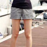 Black And White Plaid Shorts - J20Style - 2