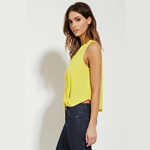 Summer Bow V-Neck Sleeveless Blouses - J20Style - 4