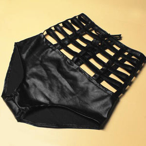 High Quality Faux Leather High Waist Short - J20Style - 2