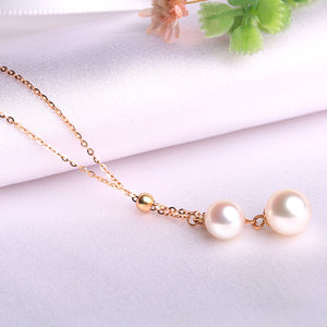 Hot Fashion Pearl 18K Gold Chain Necklace