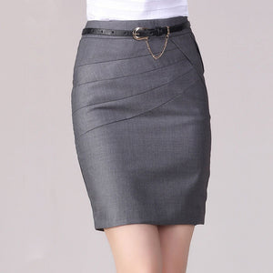 High Waist Formal Office Skirt - J20Style - 1