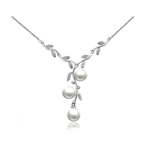 Natural Freshwater 925 Sterling Silver Choker Pearl Necklace
