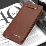 PU Leather Plaid Wallet for Men - J20Style - 4