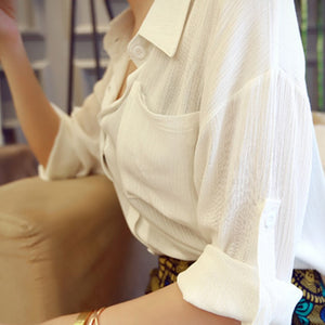 Yellow & White Temperament Women Blouse - J20Style - 6