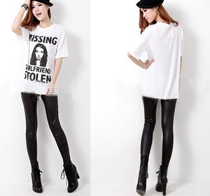 PU Leather Warm Stretchy Long Legging - J20Style - 4