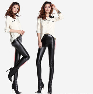 PU Leather Warm Stretchy Long Legging - J20Style - 2