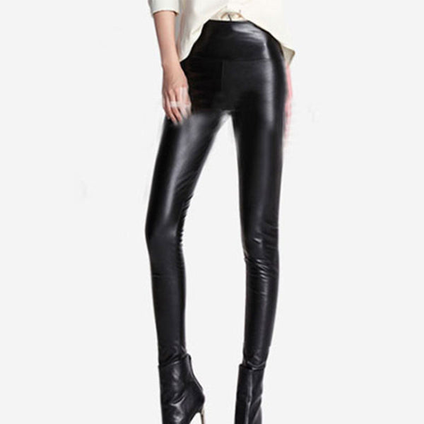 PU Leather Warm Stretchy Long Legging - J20Style - 1