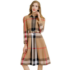 American Plaid Long Dress - J20Style - 1