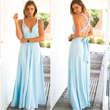 New Long Bandage Multiway Convertible Robe Maxi  Wrap Dress