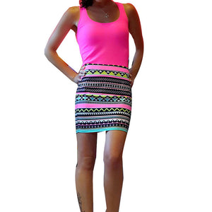 Summer High Waist Printed Skirt - J20Style - 1