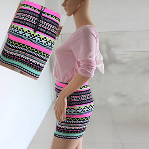 Summer High Waist Printed Skirt - J20Style - 2