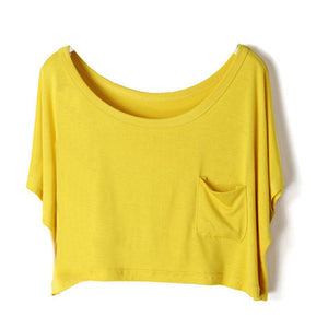 Summer Short Batwing Crop Loose Tops - J20Style - 5