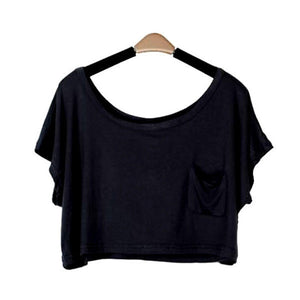 Summer Short Batwing Crop Loose Tops - J20Style - 2