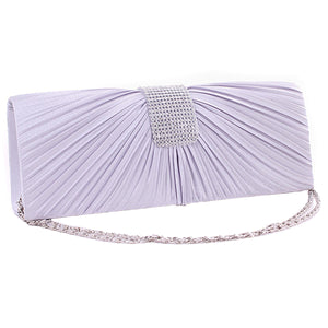 Satin Pleated Bridal Prom Handbag - J20Style - 1