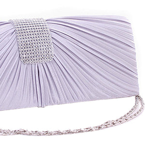 Satin Pleated Bridal Prom Handbag - J20Style - 2