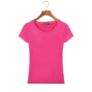 Slim Fit Cotton Short Sleeve Tops - J20Style - 6
