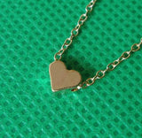 Gold Plated Tiny Heart Necklace - J20Style - 2