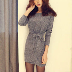 Bodycon Long Sleeve Mini Dress - J20Style