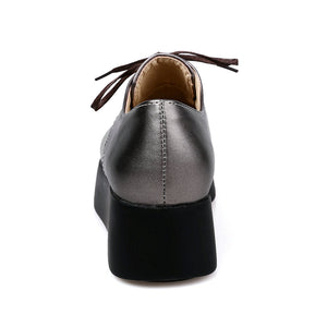 Lace Up Tassel Round Toe Leisure British Flat Heel Shoes