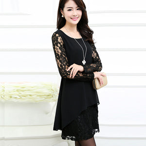 Spring Chiffon Patchwork Party Dress - J20Style - 5