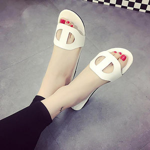 Vintage Cut-Out Flat Beach Shoes