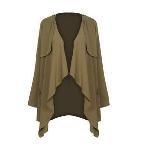 Army Green Winter Long Trench - J20Style - 5