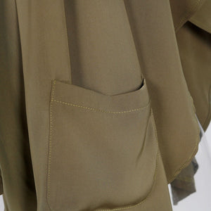 Army Green Winter Long Trench - J20Style - 3