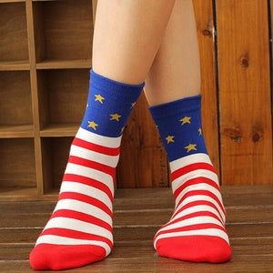 Casual Stars Stripes Crew Socks - J20Style - 6