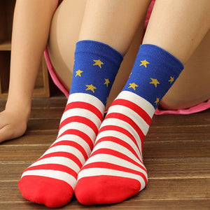 Casual Stars Stripes Crew Socks - J20Style - 5