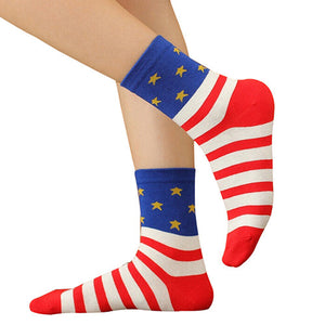 Casual Stars Stripes Crew Socks - J20Style - 1