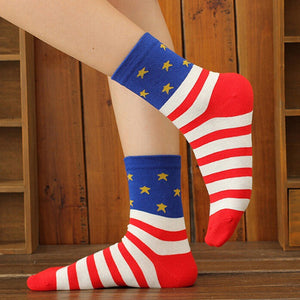 Casual Stars Stripes Crew Socks - J20Style - 4