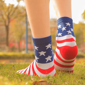 Casual Stars Stripes Crew Socks - J20Style - 2