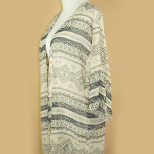 Summer Tribal Geometric Printed Chiffon Blouse - J20Style - 5