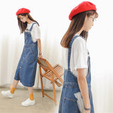 Korean Vintage Spaghetti Strap Single-Breasted Casual Dress