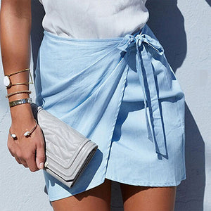 Summer Bowtie Mini Pencil Skirt - J20Style - 4