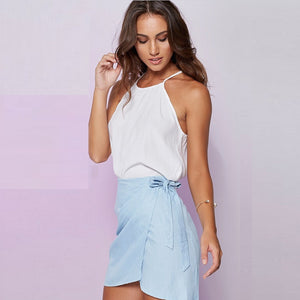 Summer Bowtie Mini Pencil Skirt - J20Style - 2