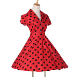 Pinup Swing Polka Dot Maggie Tang Party Retro Dress