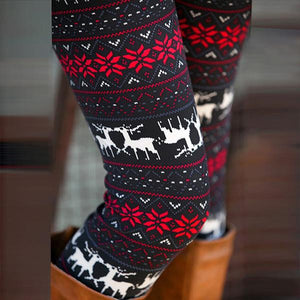 Stylish Deers Printed Stretched Legging - J20Style - 3