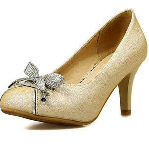 High Quality Medium Heel Bowtie Shoes - J20Style - 1